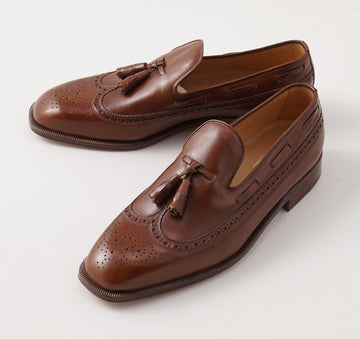 Silvano Lattanzi Tassel Loafer in Medium Brown