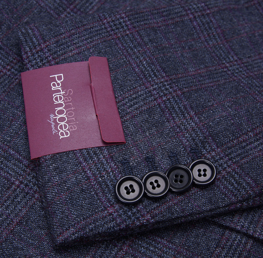 Sartoria Partenopea Blue-Plum Check Sport Coat - Top Shelf Apparel
