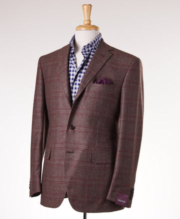 Sartoria Partenopea Brown-Burgundy Check Sport Coat - Top Shelf Apparel - 1