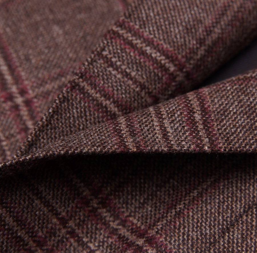 Sartoria Partenopea Brown-Burgundy Check Sport Coat - Top Shelf Apparel - 3
