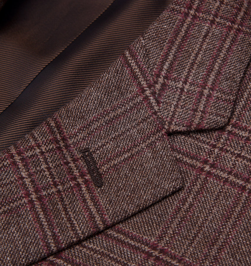 Sartoria Partenopea Brown-Burgundy Check Sport Coat - Top Shelf Apparel - 4