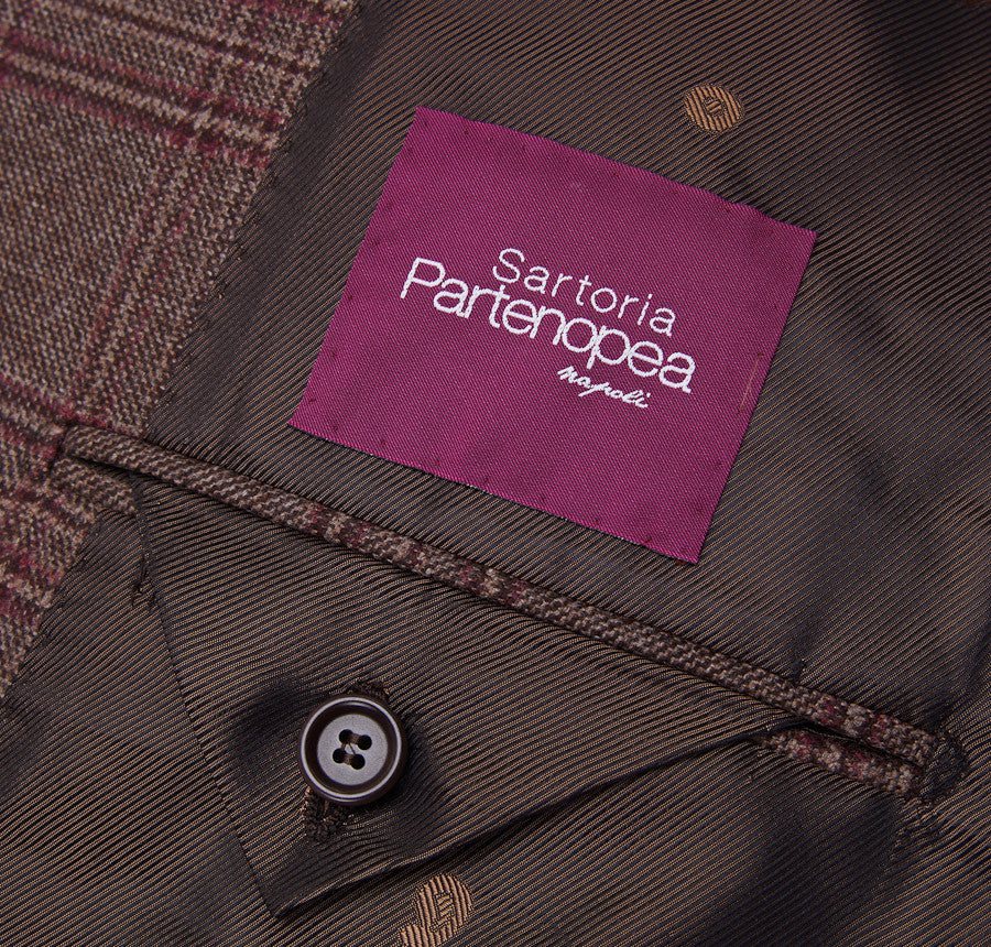 Sartoria Partenopea Brown-Burgundy Check Sport Coat - Top Shelf Apparel - 9