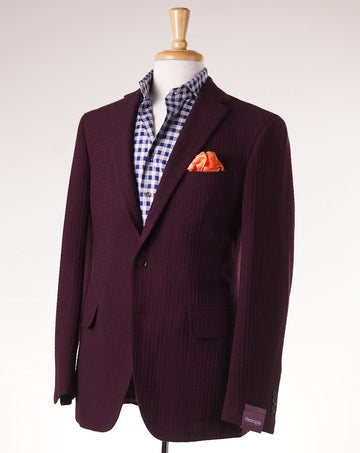 Sartoria Partenopea Burgundy Wool-Cashmere Sport Coat - Top Shelf Apparel - 1