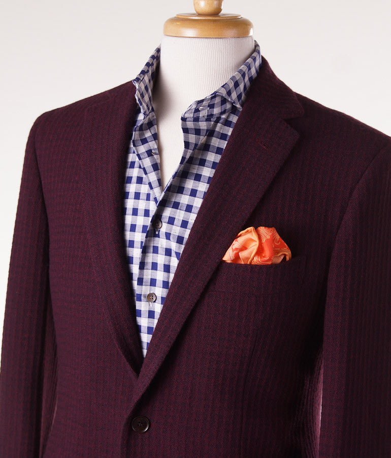 Sartoria Partenopea Burgundy Wool-Cashmere Sport Coat - Top Shelf Apparel - 2