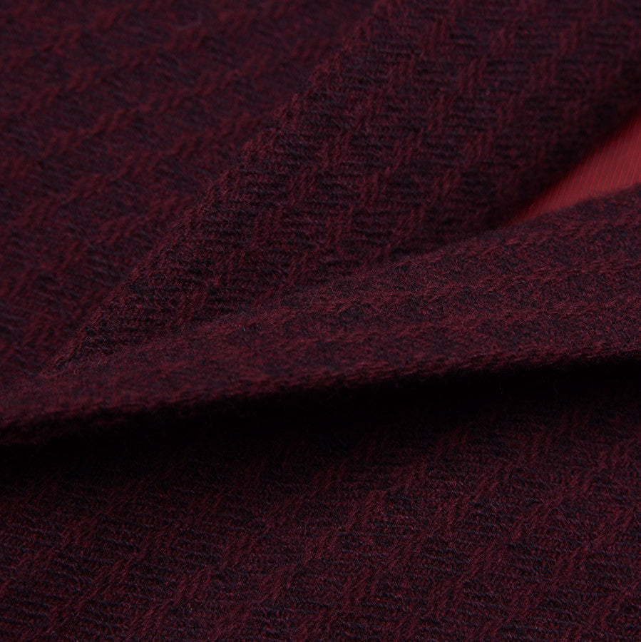 Sartoria Partenopea Burgundy Wool-Cashmere Sport Coat - Top Shelf Apparel - 3
