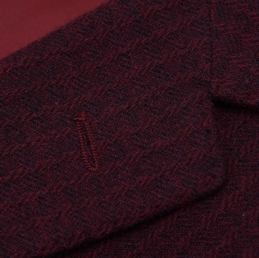 Sartoria Partenopea Burgundy Wool-Cashmere Sport Coat - Top Shelf Apparel - 4