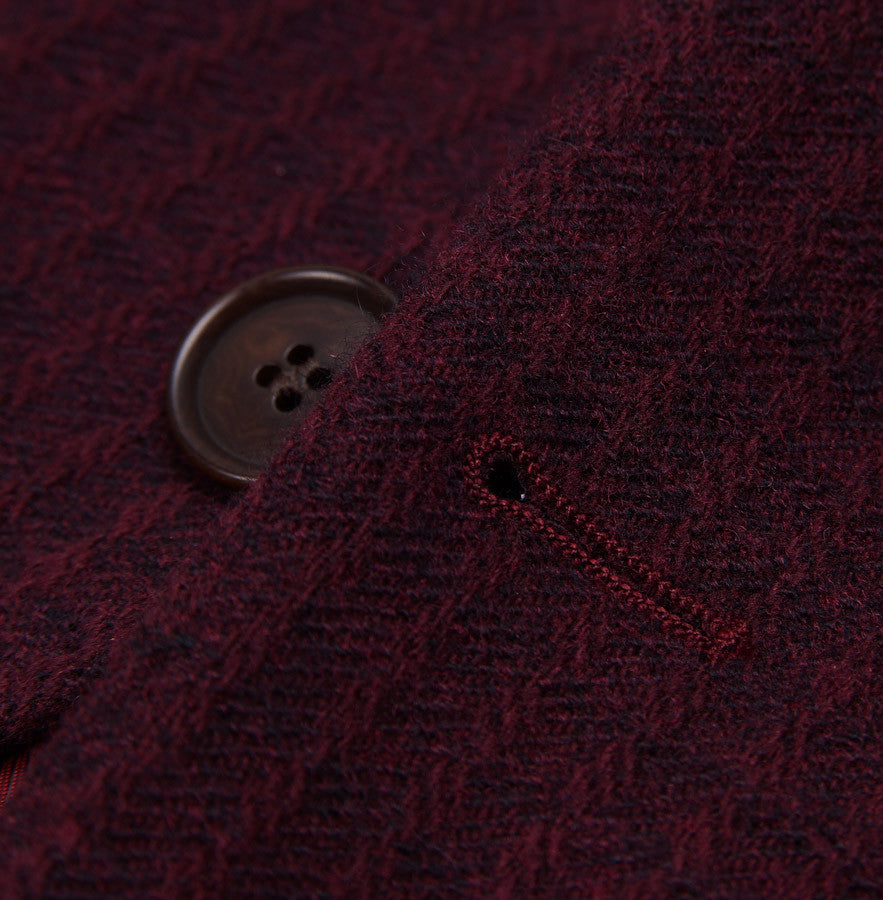 Sartoria Partenopea Burgundy Wool-Cashmere Sport Coat - Top Shelf Apparel - 6