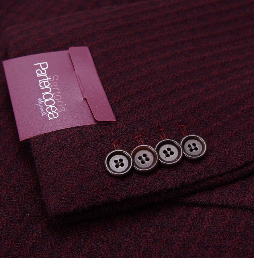 Sartoria Partenopea Burgundy Wool-Cashmere Sport Coat - Top Shelf Apparel - 7
