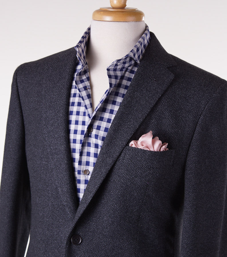 Sartoria Partenopea Charcoal Nailhead Sport Coat - Top Shelf Apparel