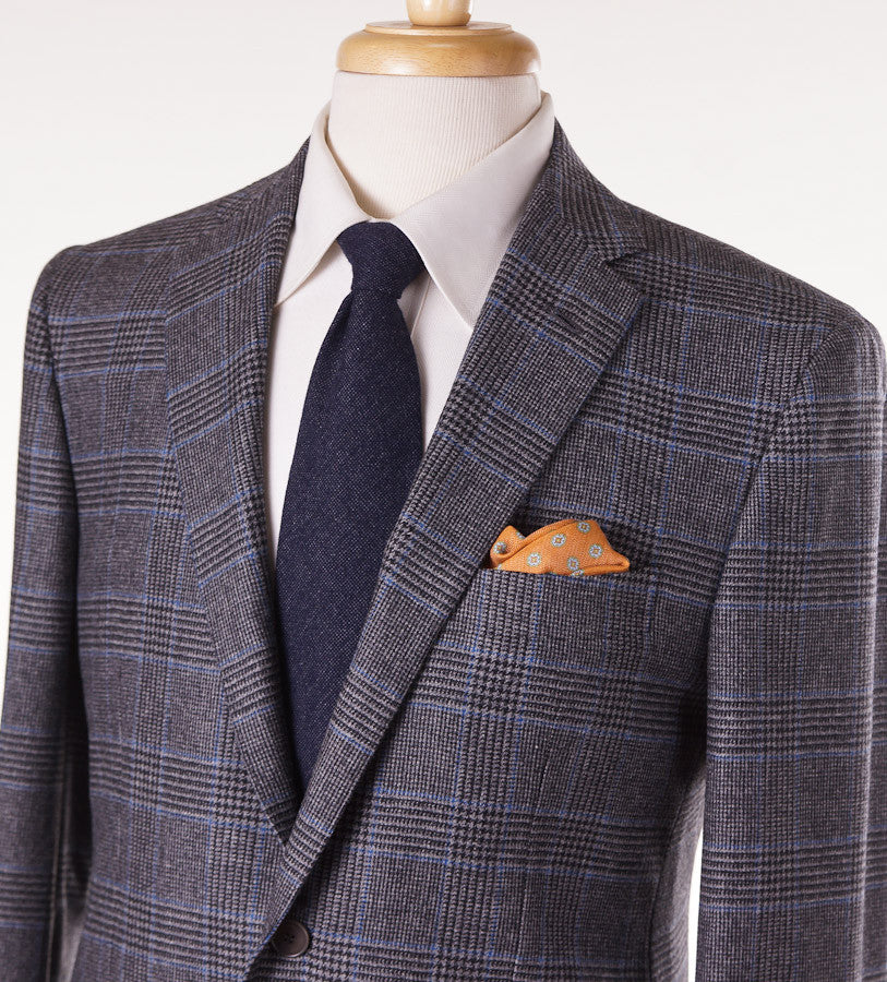 Sartoria Partenopea Gray-Blue Plaid Sport Coat - Top Shelf Apparel - 2
