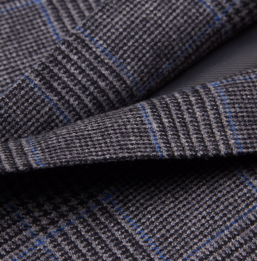 Sartoria Partenopea Gray-Blue Plaid Sport Coat - Top Shelf Apparel - 3