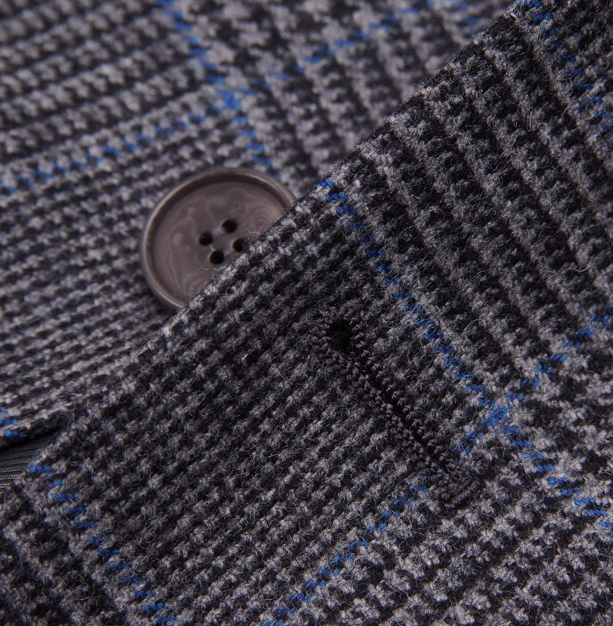 Sartoria Partenopea Gray-Blue Plaid Sport Coat - Top Shelf Apparel - 5