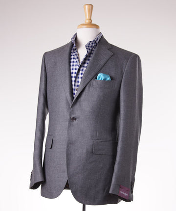 Sartoria Partenopea Gray Cashmere-Silk Sport Coat - Top Shelf Apparel - 1
