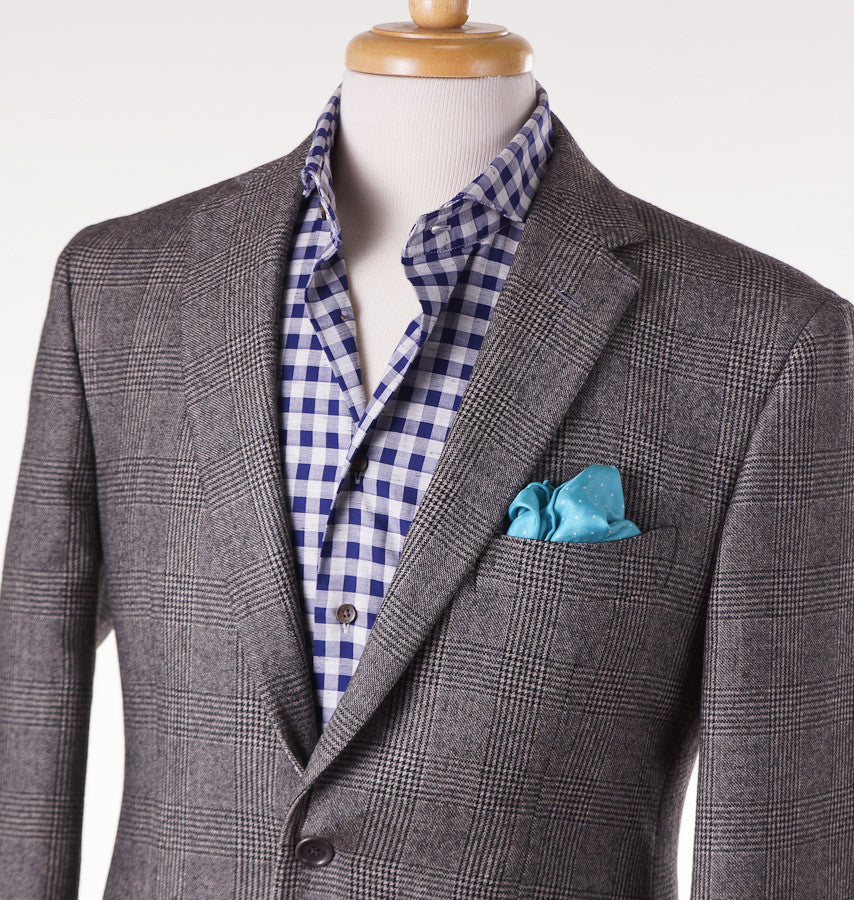 Sartoria Partenopea Gray Glen Check Sport Coat - Top Shelf Apparel - 2