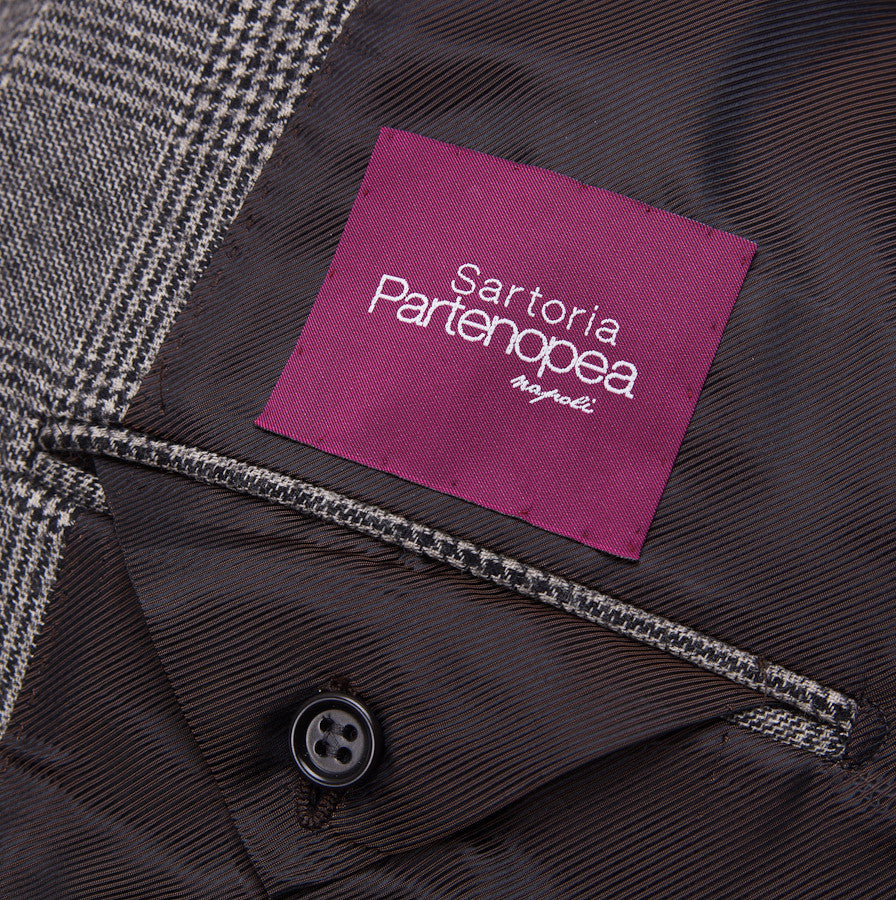 Sartoria Partenopea Gray Glen Check Sport Coat - Top Shelf Apparel - 9