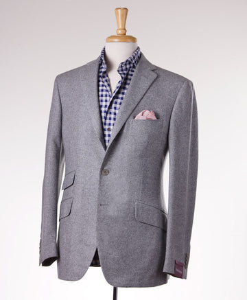 Sartoria Partenopea Gray Cashmere-Super 170s Sport Coat - Top Shelf Apparel - 1