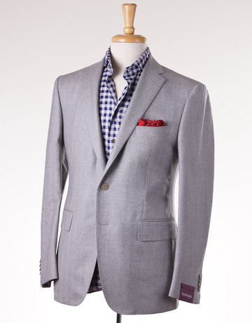 Sartoria Partenopea Gray Herringbone Sport Coat - Top Shelf Apparel - 1