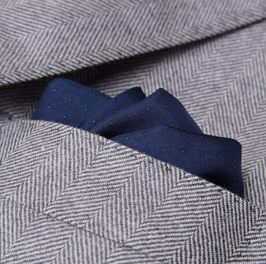 Sartoria Partenopea Gray Herringbone Sport Coat - Top Shelf Apparel - 4