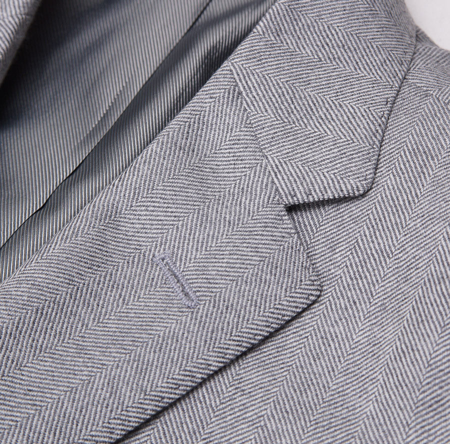 Sartoria Partenopea Gray Herringbone Sport Coat - Top Shelf Apparel - 5