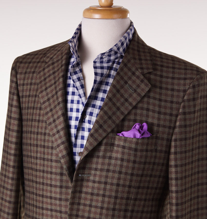 Sartoria Partenopea Moss Green Check Sport Coat - Top Shelf Apparel