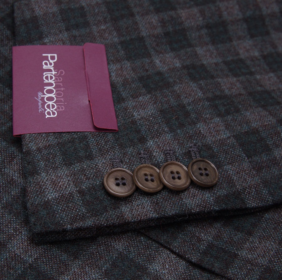 Sartoria Partenopea Spruce Check Wool-Cashmere Sport Coat - Top Shelf Apparel