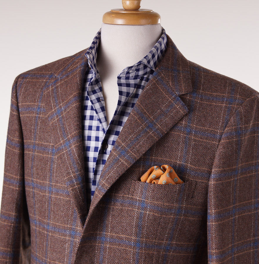 Sartoria Partenopea Tan-Blue Check Sport Coat - Top Shelf Apparel - 2