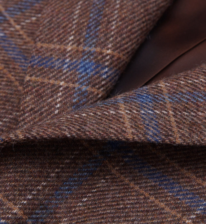 Sartoria Partenopea Tan-Blue Check Sport Coat - Top Shelf Apparel - 3