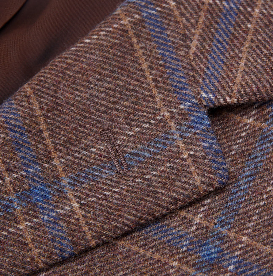 Sartoria Partenopea Tan-Blue Check Sport Coat - Top Shelf Apparel - 4