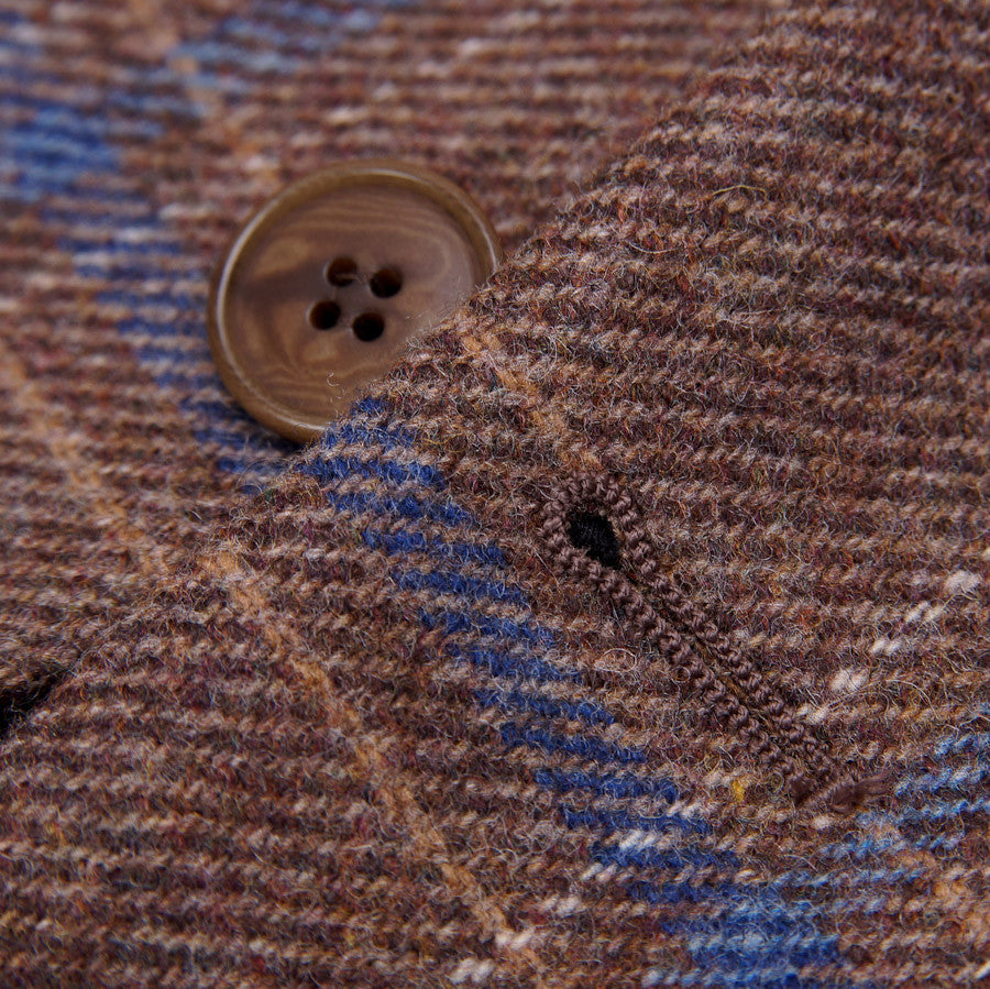 Sartoria Partenopea Tan-Blue Check Sport Coat - Top Shelf Apparel - 6