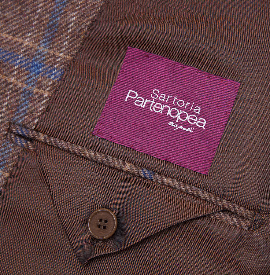 Sartoria Partenopea Tan-Blue Check Sport Coat - Top Shelf Apparel - 9