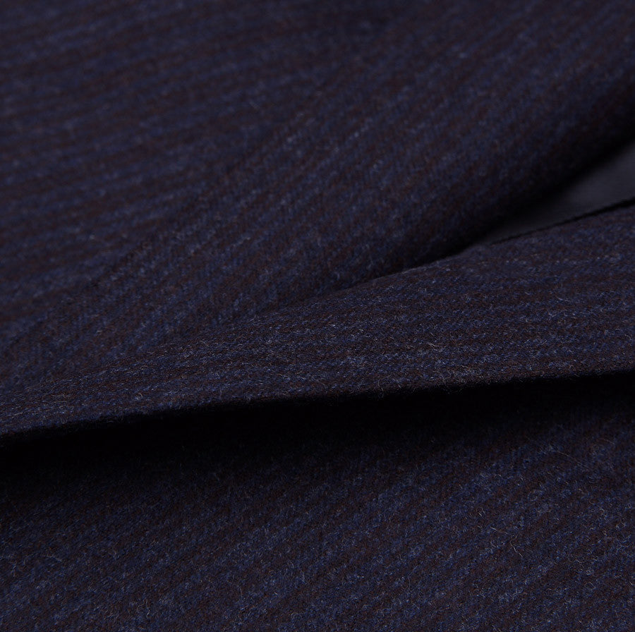 Sartoria Partenopea Extra Slim Blue Stripe Flannel Suit - Top Shelf Apparel