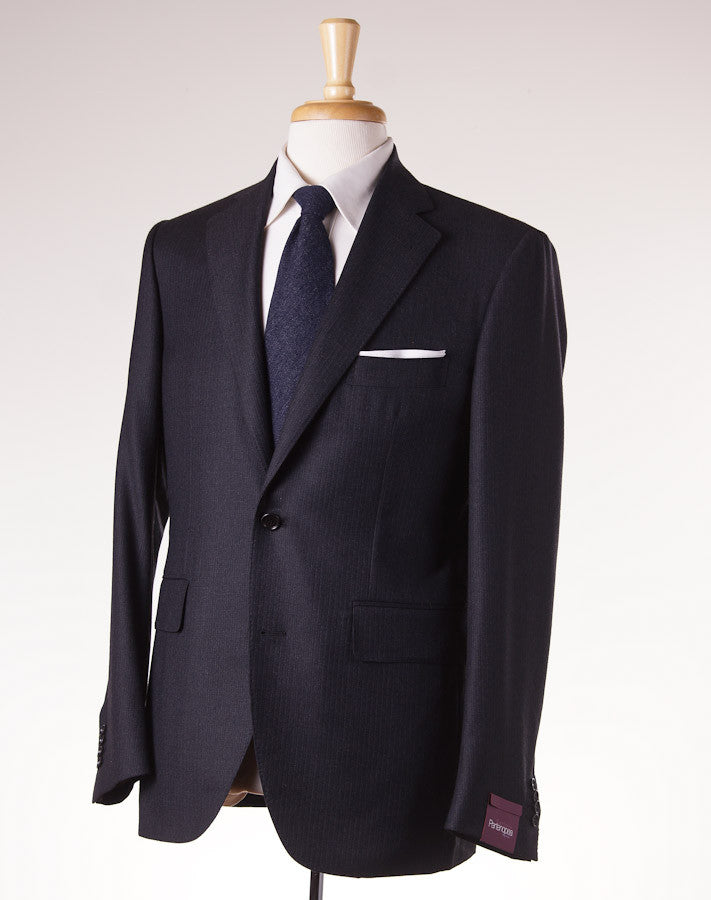 Sartoria Partenopea Slim-Fit Charcoal Stripe Suit - Top Shelf Apparel - 1