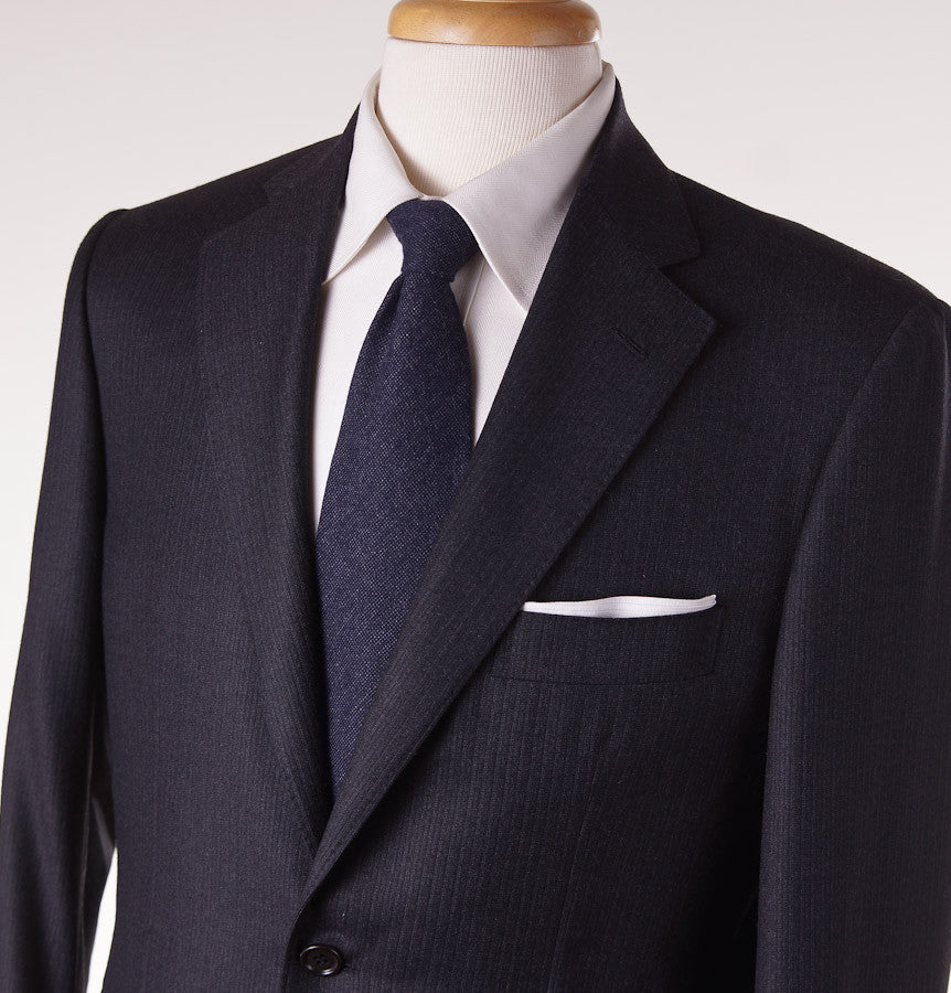 Sartoria Partenopea Slim-Fit Charcoal Stripe Suit - Top Shelf Apparel - 2