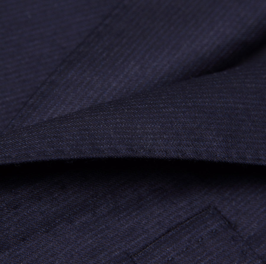 Sartoria Partenopea Navy Stripe Wool-Cashmere Suit - Top Shelf Apparel - 3