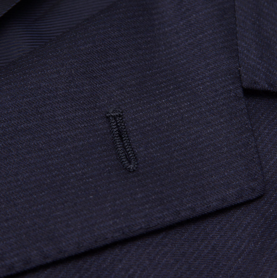 Sartoria Partenopea Navy Stripe Wool-Cashmere Suit - Top Shelf Apparel - 4