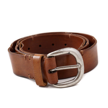 Santoni Whiskey Brown Casual Leather Belt
