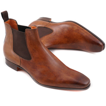 Santoni Chelsea Boots in Antique Brown