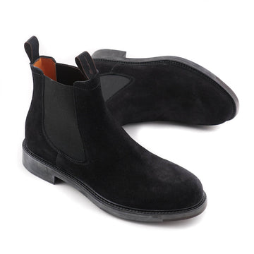 Santoni Chelsea Boot in Black Suede - Top Shelf Apparel