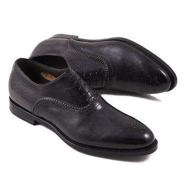 Santoni Dark Gray Medallion Tip Oxford