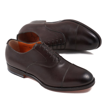 Santoni Cap-Toe Oxford in Brown