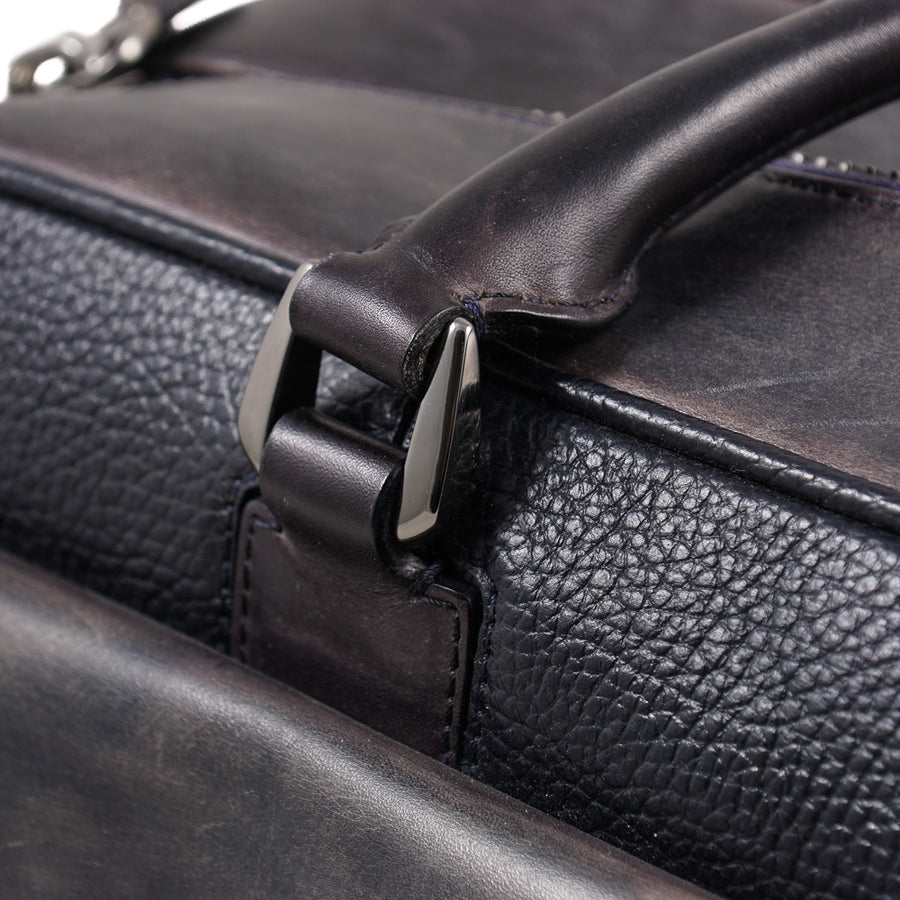 Santoni Patina Leather Weekend Bag