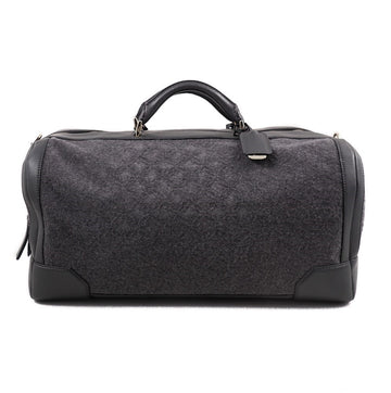 Brioni Cashmere and Leather Weekend Bag