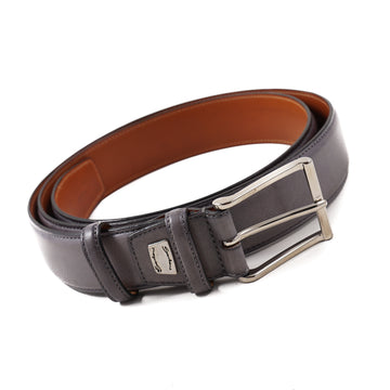 Santoni Calf Leather Belt in Gray