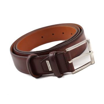 Santoni Leather Belt in Antique Brown