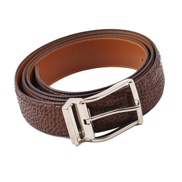 Santoni Boarskin Leather Belt