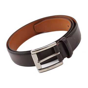 Santoni Calf Belt in Dark Brown