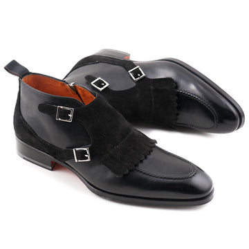 Santoni Double Monk Strap Ankle Boots - Top Shelf Apparel