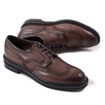 Santoni Brogue-Detailed Wingtip Derby