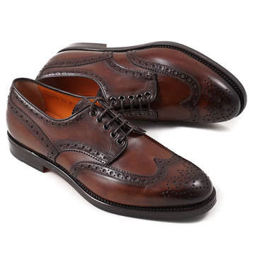 Brogue-Detailed Wingtip Derby