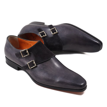 Santoni Monk Strap in Antique Gray